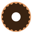 isolated donut icon vector image