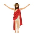 jesus christ with crown of thorns vector image vector image