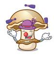 juggling portobello mushroom mascot cartoon vector image vector image
