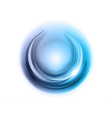 light round center blue vector image vector image