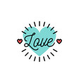 love text wedding and valentines day icons vector image vector image