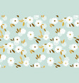 luxury gold and pastel flowers seamless pattern vector image vector image