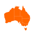 Map of Australia vector image vector image