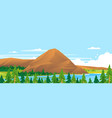 mountain in forest landscape background vector image vector image