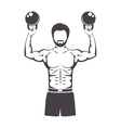muscle man lifting weights for Crossfit vector image vector image