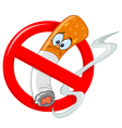 no smoking cartoon vector image vector image