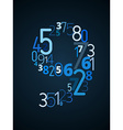 Number 9 font from numbers vector image