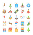 pack flat christmas vector image