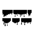 paint dripping current drops black stains on a vector image