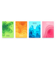 paper cut banner abstract geometric 3d shapes vector image