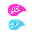 Paper Feedback Icons Isolated on White Background vector image vector image