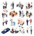 politicians isometric icons vector image