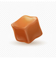 realistic caramel 3d milk toffee cube isolated vector image vector image
