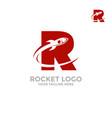 Rocket logo in the letter r flies a