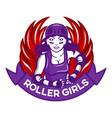 roller girl mascot vector image