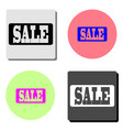 sale price tag flat icon vector image
