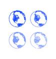scribble globe vector image vector image