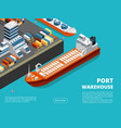 sea transportation horizontal sea freight and vector image
