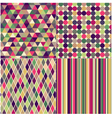 seamless multicolored geometric pattern vector image vector image