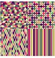 Seamless multicolored geometric pattern