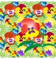 Seamless Pansy Floral Pattern vector image vector image