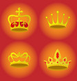 set crowns royalty icons vector image vector image