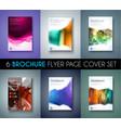 Set of 6 Brochures templates Flyer Designs or