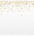stock gold confetti isolated vector image vector image
