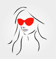 Stylish girl wearing shades vector image vector image
