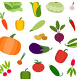 vegetarian pattern with carrot tomato vector image