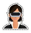 virtual reality icon image vector image vector image