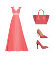 woman pink outfit set vector image