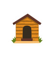 wooden kennel on a white vector image vector image