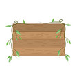 wooden sign cartoon vector image