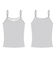 ladies spaghetti shirt template vector image