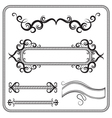 set of frames decorated with swirls The vector image