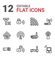 12 wifi icons vector image vector image