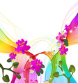 Abstract colorful background with wave and exotic vector image vector image