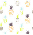 abstract pineapple pastel colors pattern vector image vector image