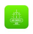 air energy icon green vector image