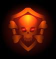biker club poster with skull emblem vector image vector image