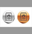 black line bag food for dog icon isolated vector image vector image