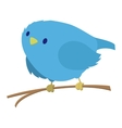 Blue bird on the branch vector image vector image