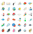 book icons set isometric style vector image vector image
