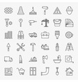 Building Construction Line Art Design Icons Big vector image