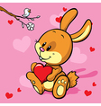 bunny with heart vector image
