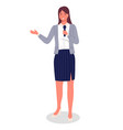 business woman or presenter gives public vector image vector image