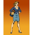 businesswoman superhero woman vamp vector image vector image