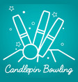 candlepin bowling simple vector image