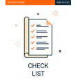 check list icon notebook with marks list vector image vector image